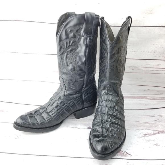 384035fefa2 Vaquero Alligator Hornback Tail Cowboy Boots 12